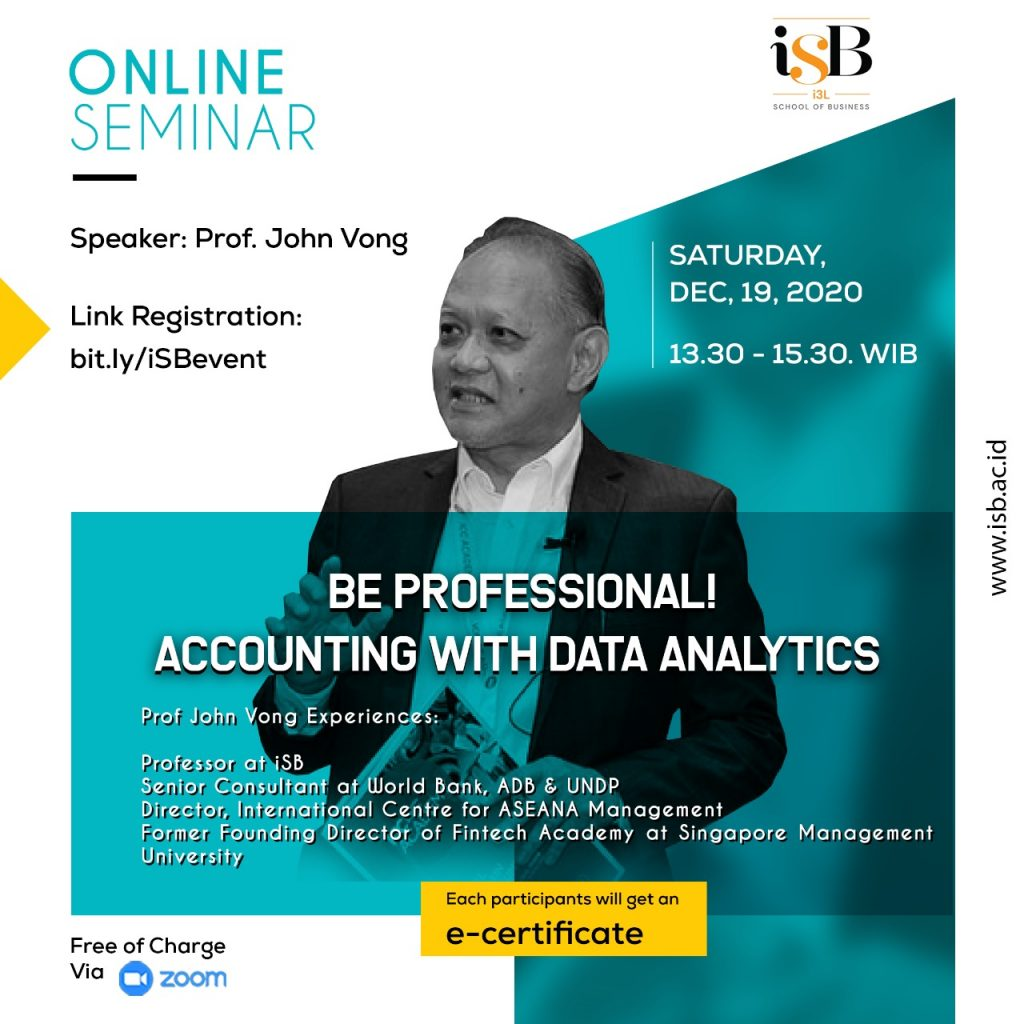 iSB Online Seminar December 2020 Be Professional Accounting with Data Analytics