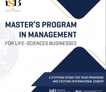 i3L School of Business iSB MBM master in biomanagement