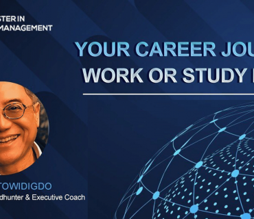 Your Career Journey Work or Study First